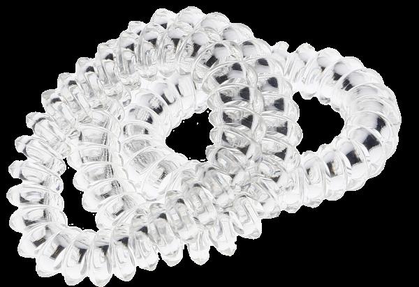 Spiral Haargummis 5,5 cm transparent