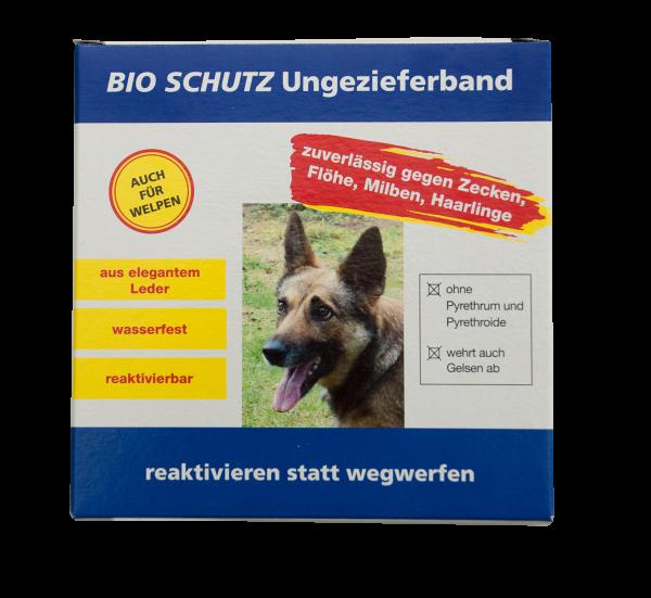 Bio Schutz Ungezieferband Hund hellbraun