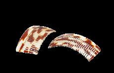 Haarkamm Celluloid gewellt 9 cm