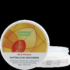 Natürliche Deocreme No 09 Pfirsich