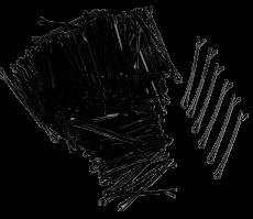 Haarklemmen stark 5 cm 250g schwarz