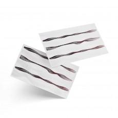 Nail Art Sticker Waves white & rosegold