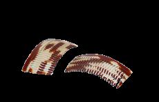 Haarkamm Celluloid gewellt 8 cm