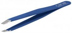 Canal Haarpinzette schräg blau 95mm