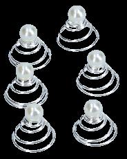 Curlies mit kleiner Perle creme