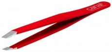 Canal Haarpinzette schräg rot 95mm