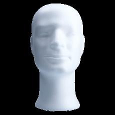 Styroporkopf m.Gesicht Stefan 113