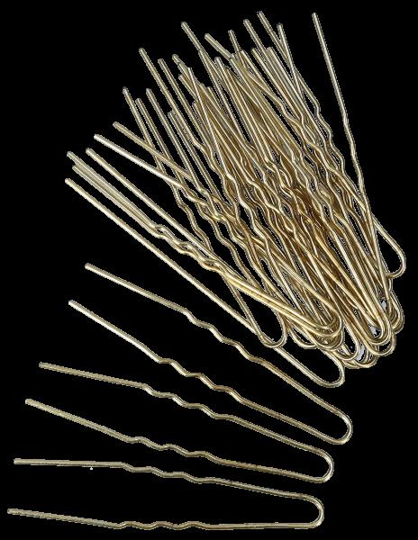 Haarnadeln 7 cm gold