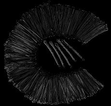 Haarklemmen 5 cm 250g schwarz