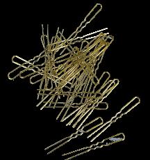 Haarnadeln 5 cm gold