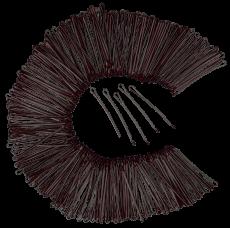 Haarklemmen 5 cm 250g braun