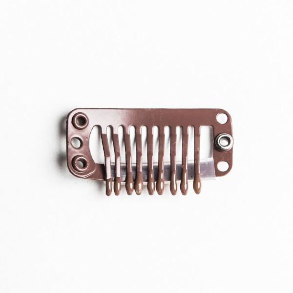 Clips-Metall Silikonüberzug 3cm braun