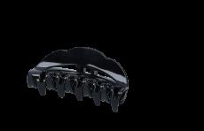Haarklammer 9 cm schmal schwarz