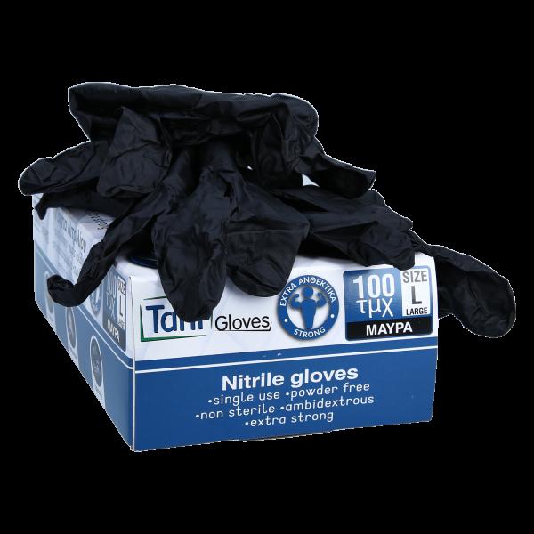 Nitril Handschuhe black L 100 Stk.