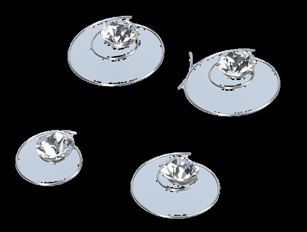 Curlies m. Swarovski ® Strass 6 mm kristal