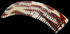 Haarkamm Celluloid gewellt 12 cm