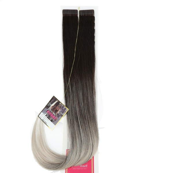Ombre Tape-In Ext.Echth. 50cm 1B/Silber