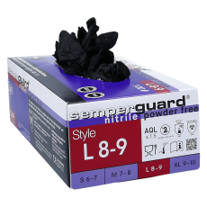Nitril Handschuhe pf schwarz L 100 Stk.