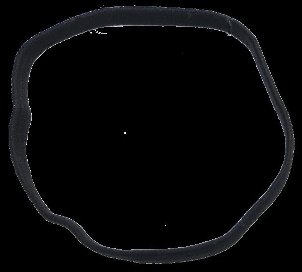 Haarband 1 cm schwarz