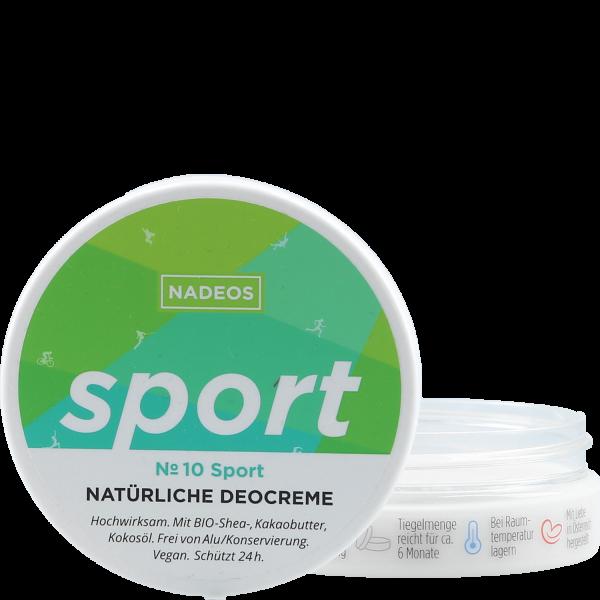 Natürliche Deocreme No 10 Sport