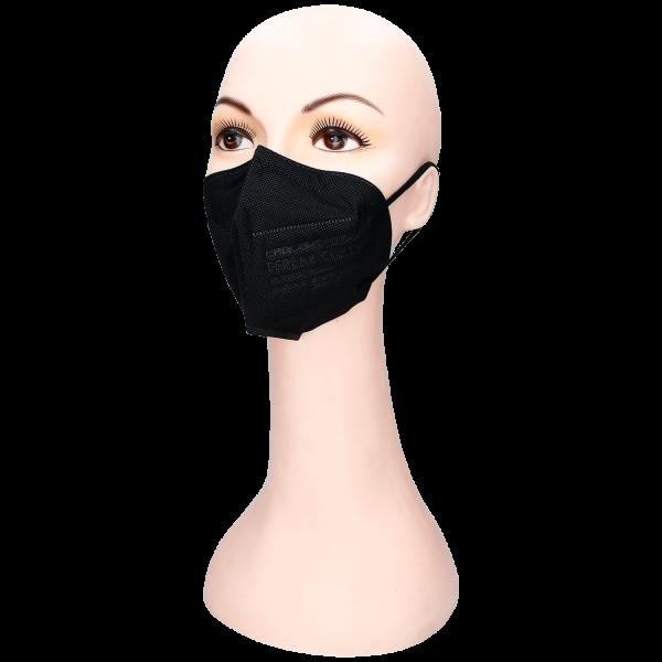 Schutzmaske KN95 FFP2 1Stk. Schwarz