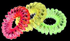 Spiral Haargummis 3,5 cm bunt