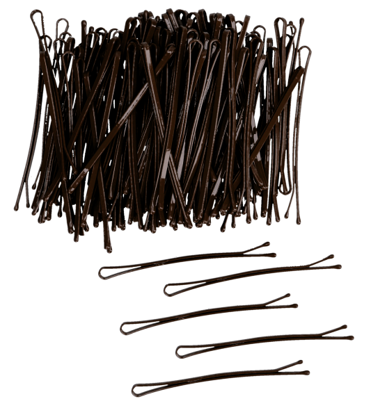 Haarklemmen stark 7 cm 250g braun