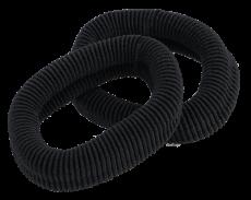 Frottee Haargummis 6 cm schwarz