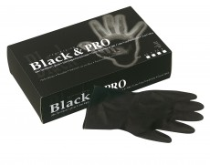 HANDSCHUHE LATEX SCHWARZ SATIN MEDIUM 20ST
