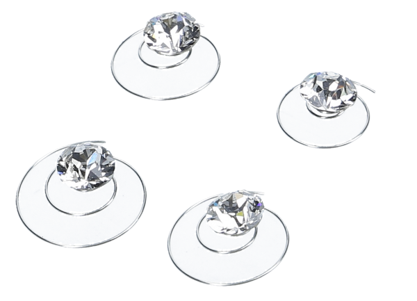 Curlies m. Swarovski® Strass 8 mm kristal