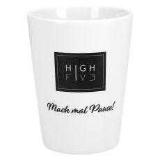 High Five Porzellan Becher 350ml