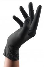 Latex Handschuhe Schwarz L 100 Stk.