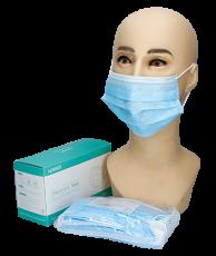 Mund- und Nasenschutz mit Ohrschlaufe 3lag, 50 Stück
