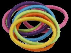 Haargummi ohne Metall 3,5 cm dünn bunt