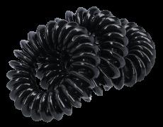 Spiral Haargummis 3,5 cm schwarz
