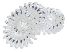 Spiral Haargummis 3,5 cm transparent