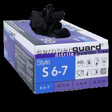 Nitril Handschuhe pf schwarz S 100 Stk.