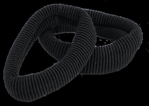 Frottee Haargummis 5 cm schwarz