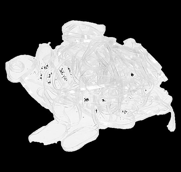 Haargummis Rasta klein transparent