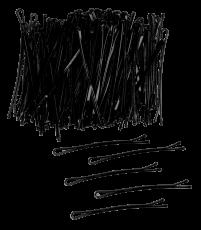 Haarklemmen stark 7 cm 250g schwarz