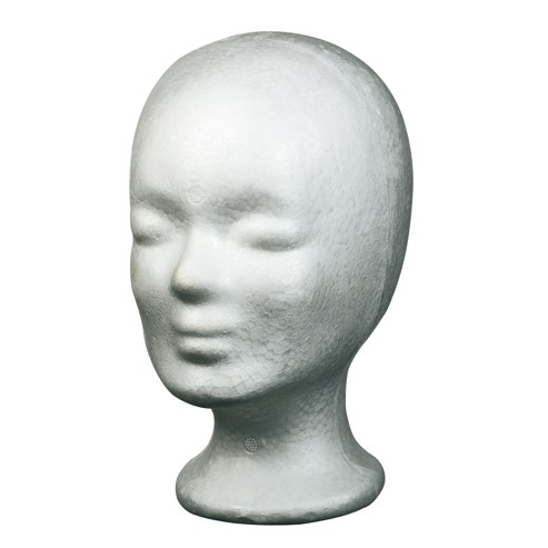 Schaumstoffkopf Weiß