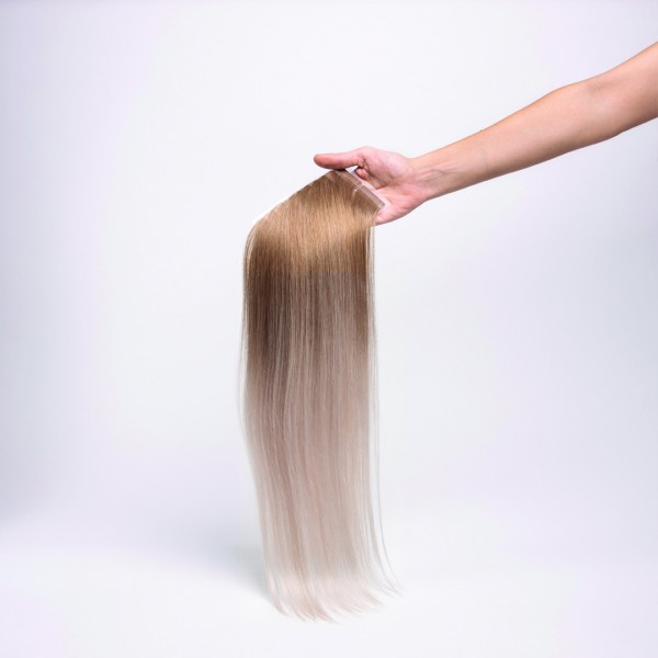 Ombre Tape-In Ext.Echth. 50cm 8/Silber