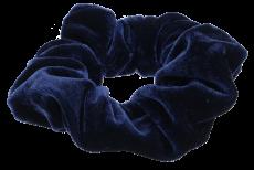 Samt Haargummi marine blau